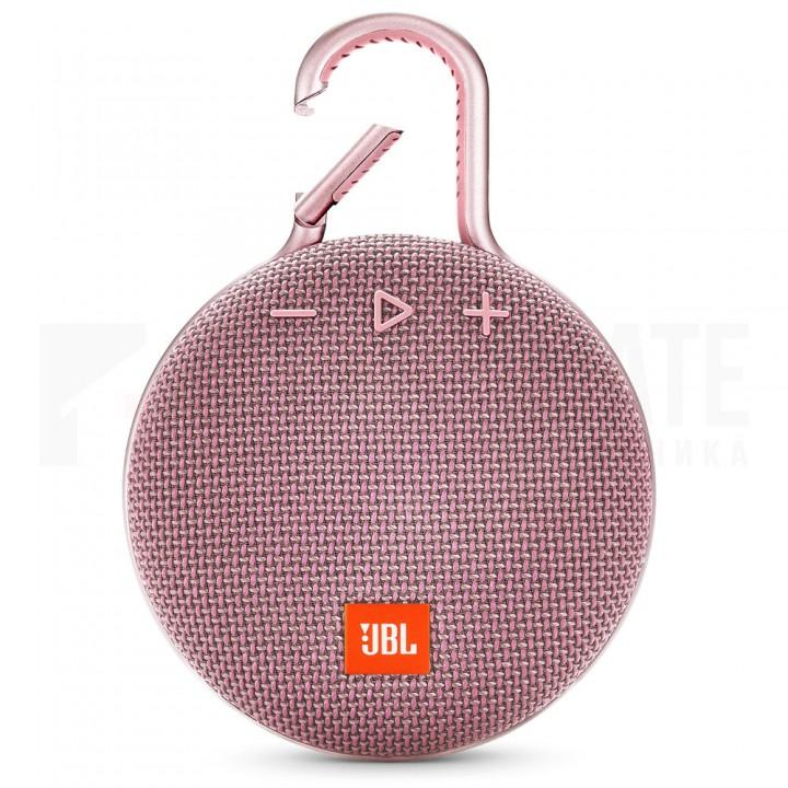 Беспроводная портативная колонка JBL Clip 3 Dusty Pink