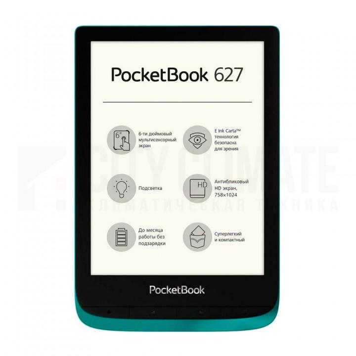 Электронная книга PocketBook 627 (PB627-C-CIS) Изумрудная, СТБ