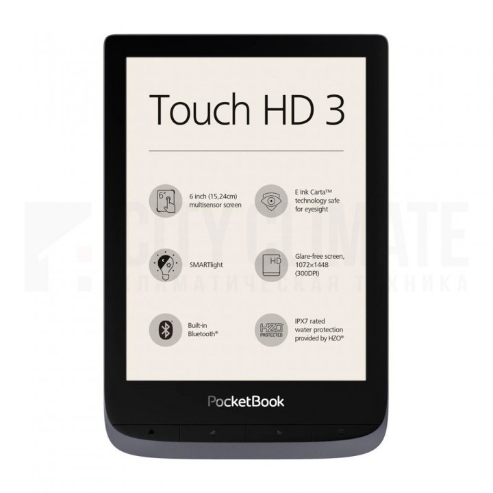 Электронная книга PocketBook Touch HD 3 Серая